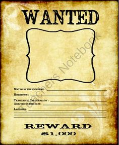 Wanted Poster from Creative Teaching - Engaging Activities for Upper Grades on TeachersNotebook.com (1 page)  - Wanted Poster! Gold Rush
