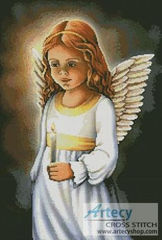 Angel of the Light Counted Cross Stitch Pattern http://www.artecyshop.com/index.php?main_page=product_info&cPath=74_76&products_id=944