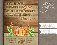 361 best unique baby shower invitations images on pinterest in 2018 rustic little pumpkin baby shower invitation wood background orange green lil pumpkin baby shower invites filmwisefo