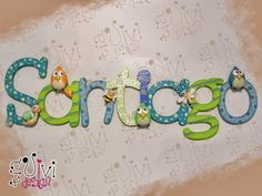 TiaViviDesign Wooden Letters For Nursery, Arte Country, Baby Photos, Calligraphy, Lettering, Birthday, Crafts, Decorated Letters, Baby Showers