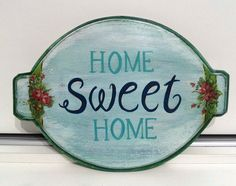 Placas decorativas para porta HOME SWEET HOME