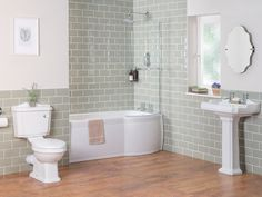Abbey Traditional Bathroom Suite with Right Hand P Shape Shower Bath Small Bathroom, Bathroom Shower Suites, Traditional Bathroom, Bathrooms Remodel, Bathroom Remodel Cost, Bathroom Suite, Diy Bathroom Remodel, Traditional Bathroom Suites, Bathroom Renovations
