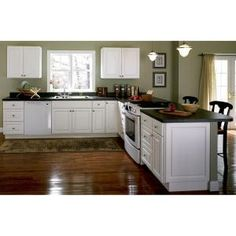 Hampton Bay Shaker Assembled 36x30x12 In. Wall Kitchen Cabinet In Satin  White | Basements And Walls