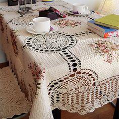 Imagini pentru toalhas de mesa de jantar em croche