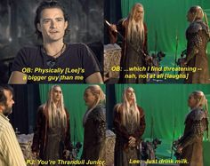 Just drink your milk leggy - Thranduil