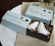 Gift Boxed Love Bird Salt & Pepper Shaker Set (Wedding Star 8873) | Buy at Wedding Favors Unlimited (http://www.weddingfavorsunlimited.com/gift_boxed_love_bird_salt_pepper_shaker_set.html).