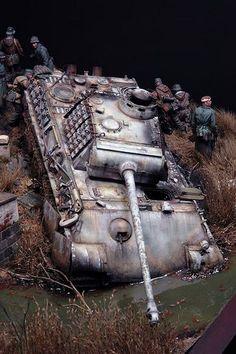 """A Bitter Spring Awakening"" Scale Model Diorama Model Tanks, Model Maker, Military Modelling, Ww2 Tanks, Outdoor Art, Armored Vehicles, Military Art, Scale Models, Military Vehicles"