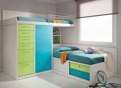 Luxury L-Type Double Bunk Beds