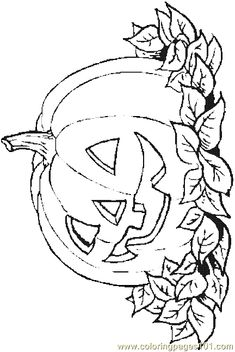 coloring page for kids and adults from Holidays coloring pages, Halloween coloring pages Free Halloween Coloring Pages, Pumpkin Coloring Pages, Fall Coloring Pages, Adult Coloring Book Pages, Coloring Pages To Print, Free Printable Coloring Pages, Coloring Pages For Kids, Coloring Books, Coloring Sheets