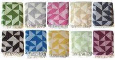 geometric design blankets
