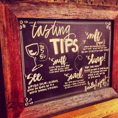Chalkboard Wine Tasting Instructions by masandmillie on Etsy, $60.00