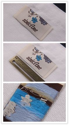 Woven clothing labels, new design, can be customized, order today!   #woventag #wovenlabel #design  Please follow @sinicline for more packaging and labeling design! Business Essentials, Fabric Labels, Clothing Labels, Printing Labels, Packaging, Tags, Prints, Fashion Design, Clothes