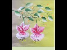Aprende a pintar flores colgantes en pinceladas. Learn how to paint hanging…