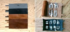 Cordito Leather Organizer - Three Cables, Two Plugs - Gray, Black, Brown Leather
