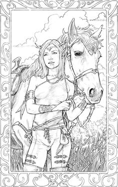 Elf Girl And Horse by staino.deviantart.com on @deviantART