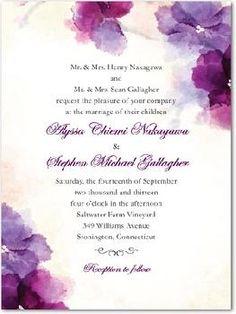 Soft Bougainvillea Invitation. My favorite flower and gorgeous invitation:)