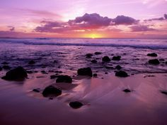 Reminds me of a romantic sunset on the North Shore of Oahu that Gary and I enjoyed!
