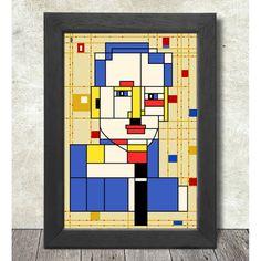 Piet Mondrian Poster impresión A3 + 13 x 19-33 x 48 cm compra 2 Get 1 Free Piet Mondrian, Education Logo, Illustration, Etsy, Poster, Sketch, Book, Free, Shopping