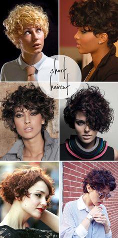 cabelos curtos cacheados