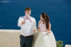 Wedding in Santorini-wooden letters  |View the full gallery here:http://tietheknotsantorini.com/santorini-wedding-at-cavo-ventus-villa
