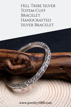 This is one of the most unique pieces of Hill Tribe Silver from Thailand. There are beautiful and mysterious patterns on the square cuff bracelet. It'll make an awesome present for birthday or Valentine's Day. #Jewelry1000 #Hilltribesilver #silverbracelet #cuffbracelet #handmadesilver #Valentinesdaygift
