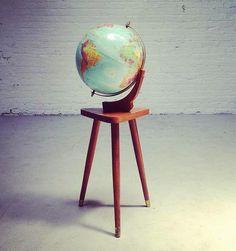 Mid Century Modern Eames Vernco Gunstock Raised Replogle Globe $550 www.facebook.com/ForSaleInOmaha forsaleinomaha.etsy.com