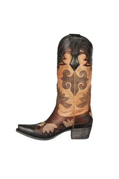 The Maggie is a handcrafted 13 inch Western inspired fashion boot. This stunning boot has a brown leather foot with black leather overlay. As well as a tan leather Shaft with black stitching and black leather overlay and a leather sole. This boot would look wonderful in with a summer dress or a skinny jeans in the fall. This boot should fit true to size and comes up to mid calf. (As with all boots they should slip in the heel no more than about a half inch when you walk)…
