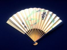 Gold Japanese Hand Fan Dragon Vintage Paper Ogi Sensu (F103) Small Size Congratulations