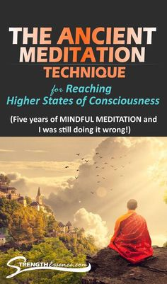 This ancient mindfulness meditation technique will help you reach higher states of consciousness! When practiced correctly, you'll be able to quiet your mind faster, reach deeper levels of meditation, and reach higher levels of awareness. Meditation Mantra, Meditation For Anxiety, Meditation For Beginners, Meditation Techniques, Chakra Meditation, Meditation Practices, Mindfulness Meditation, Guided Meditation, Meditation Space