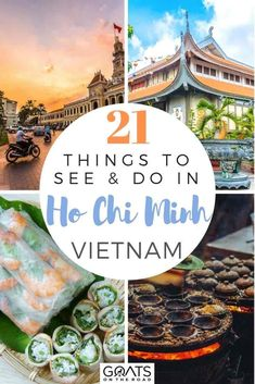 21 Fun Things To Do in Ho Chi Minh Goats On The Road : Planning to travel to Vietnam in Asia? Put Ho Chi Minh on your itinerary, there are so many things to do in this top destination! With delicious street food and restaurants, unique architecture, and The Road, Vietnam Travel Guide, Asia Travel, Travel Tips, Travel Checklist, Travel Videos, Travel Stuff, Hawaii Travel, Travel Essentials