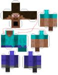 Minecraft Papercraft with tag 'character'