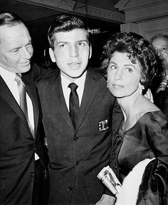 Frank and Nancy Sinatra with son Frank Jr. after his singing debut at the Cocoanut Grove, 1963