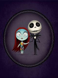 https://flic.kr/p/diZP4H | Jack and Sally | I did this fun little portrait for The Tim Burton Show over at Planet-Pulp. www.planet-pulp.com/