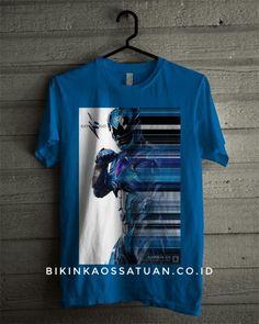 Kaos Blue Power Ranger - Bikin Kaos Satuan