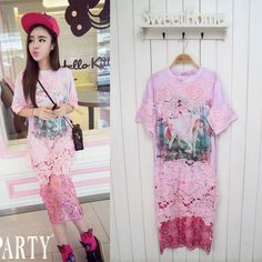 Find More Information about women Vivi party pink Tie dyed lace patchwork soluble unicorn Appliques short sleeve cotton TEE shirt dress,High Quality shirt and hat printing,China shirt stays Suppliers, Cheap dress shirt under sweater from Sexy Bar on Aliexpress.com