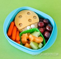 Easy Bento Ideas for School Lunches...use a straw to make the dots for the ladybug