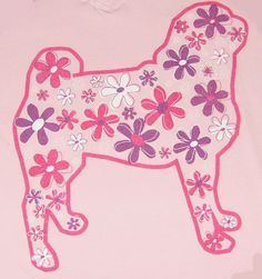 Pug Shirt, long lasting screen print. $20.00, via Etsy.