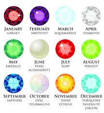 Birthstones For Each Month All Colors On Sale Amethyst Birth Month Month Gemstones Birthstones By Month Birthday Stone