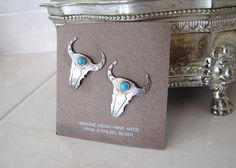 Vintage Native American Bull Sterling silver by SwanTreasures