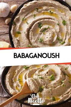 Babaganoush is a sauce of Middle Eastern origin based on Eggplants, Tahina, Lemon Juice, Garlic and Veggie Recipes, Vegetarian Recipes, Cooking Recipes, Healthy Recipes, Food Porn, Baba Ganoush, Kebab, Pesto, I Love Food