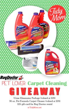 Pet Lover Carpet Cleaning Giveaway at TidyMom.net