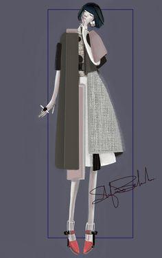 """Asimmetrico"" Sketch | Stefania Belmonte | my collection | Fashion Illustration"