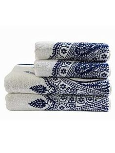 HARLEQUIN BY CHRISTY  Azara Jacquard Hand Towel Blue
