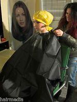 Shampoo Cape Friseur/Waschumhang vintage mit Druckknöpfen a0023 schwarz