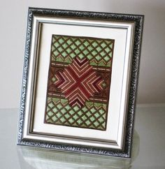 Needlepoint Hand Embroidered Bargello Framed Art by Lisolabella