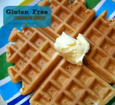"""Gluten Free Cinnamon Waffle is my son's favorite breakfast on the weekends. He loves the cinnamon taste the waffle has. My son has Asperger's Syndrome and we are having him eat a gluten free diet to help him be the best he can be. He loves eating gluten free and this is one of his favorites. I love to serve this with Homemade Blueberry Topping and Homemade Whipped Cream. Be sure to """"PIN"""" this great recipe so you will have it when you are ready to make it. Please follow us on Pinterest..."""