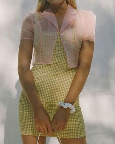 Shop UO Mary Textured Gingham Dress at Urban Outfitters today. We carry all the latest styles, colors and brands for you to choose from right here. Look 80s, Look Retro, Mode Outfits, Casual Outfits, Fashion Outfits, Womens Fashion, Dress Fashion, Latex Fashion, 2000s Fashion