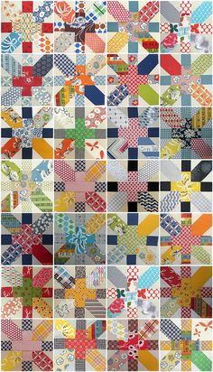 Japanese & X Quilt Along - The story so far! by Amelies Whirlygiggles, via Flickr