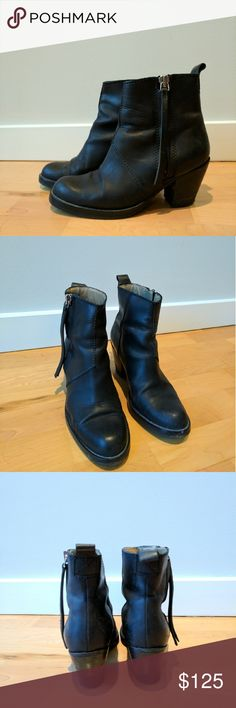 Acne black booties with external side zip Size 37 Acne Shoes Ankle Boots & Booties