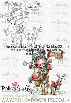 Kit & Clowder class - Noel the Christmas Mouse - Polkadoodles Ltd Christmas Drawing, Christmas Fairy, Cosy Christmas, Christmas China, Xmas, Whimsy Stamps, Digi Stamps, Craft Stamps, Christmas Characters